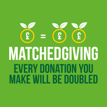 Matched Giving: Every Donation you make will be doubled