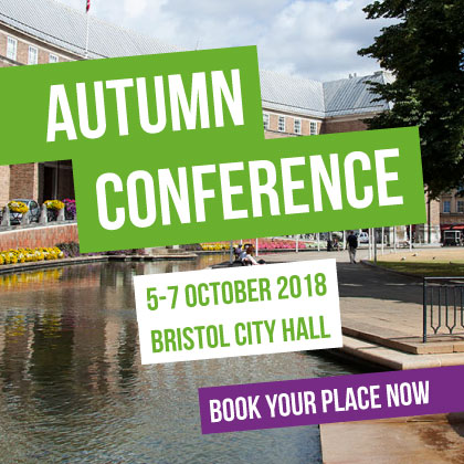 Autumn Conference banner - Bristol 5-7 October
